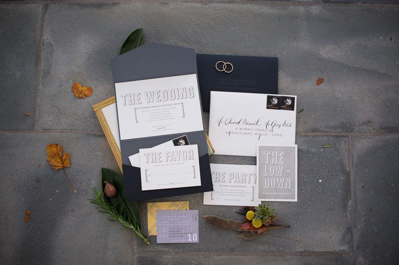 Edward & Gary's super fun and modern wedding invitation suite from Umi by Elum.