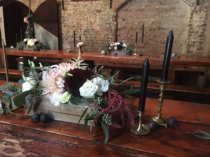 Floral decor and candles