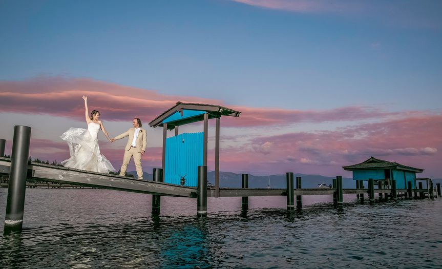 Lake Tahoe. Bride & Groom