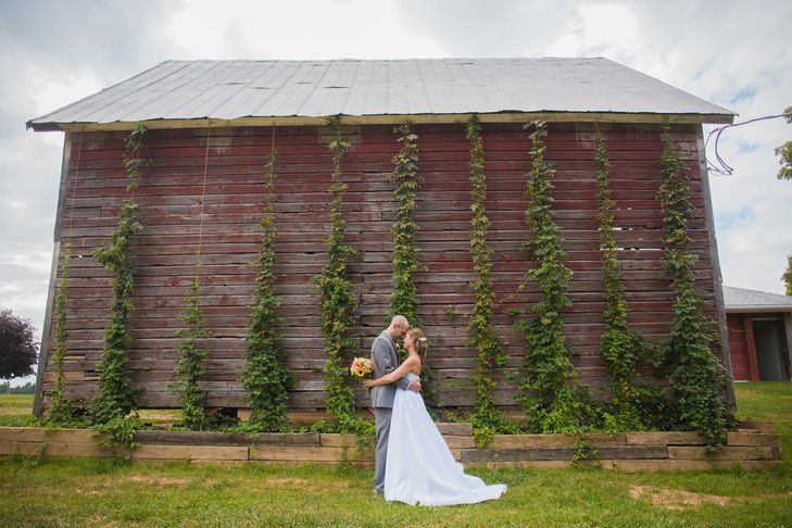 Couple by the Corn Crib