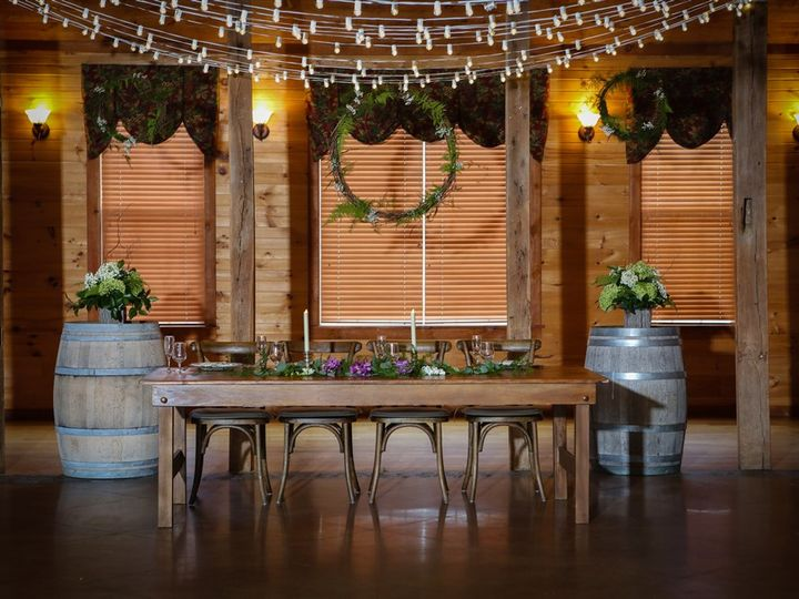 Tmx Farm Table With Barrels 51 1035 Mount Airy, MD wedding venue