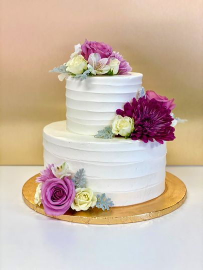 Buttercream and Fresh Flowers