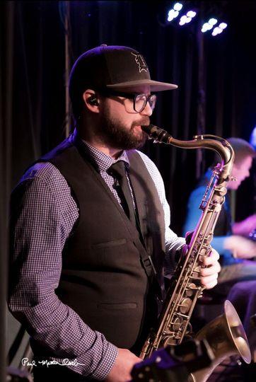 Ryan on sax
