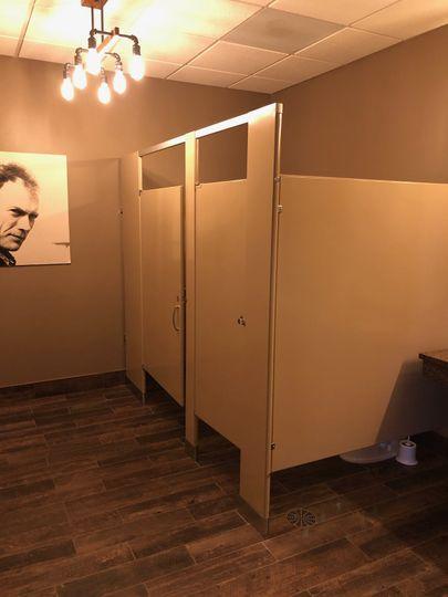 Rustic Mens Washroom