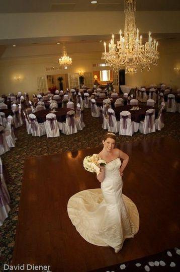 The bride in the venue
