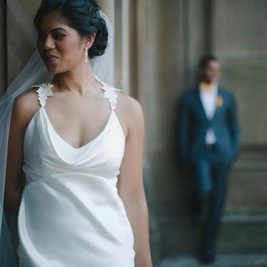 Simple wedding look