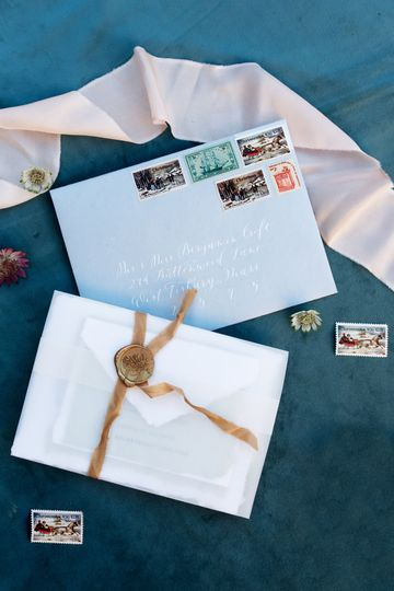 invitation with elegant seal