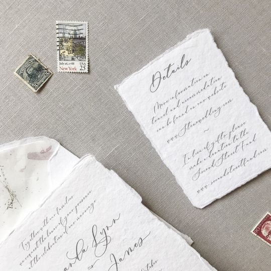 Personalized wedding agenda note