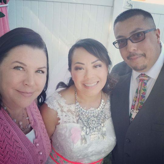 Jenn with newlyweds
