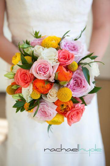 Garden Rose, Rose and Ranunculus Bouquet
