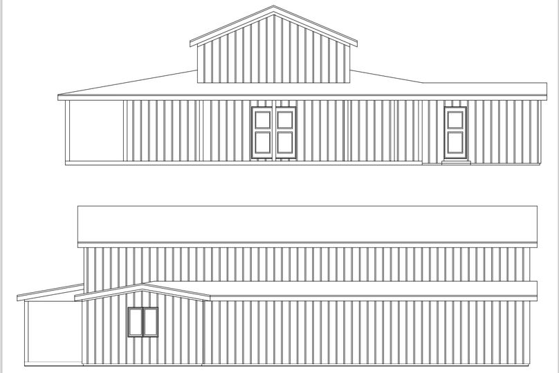 The front view of the barn.