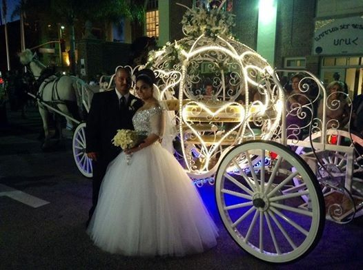 wedding with cinderella lights