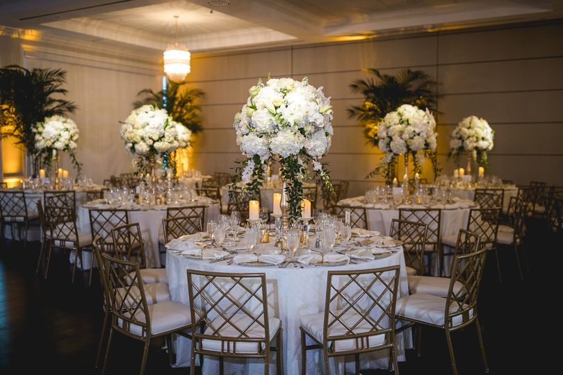 Gold and Ivory Centerpieces