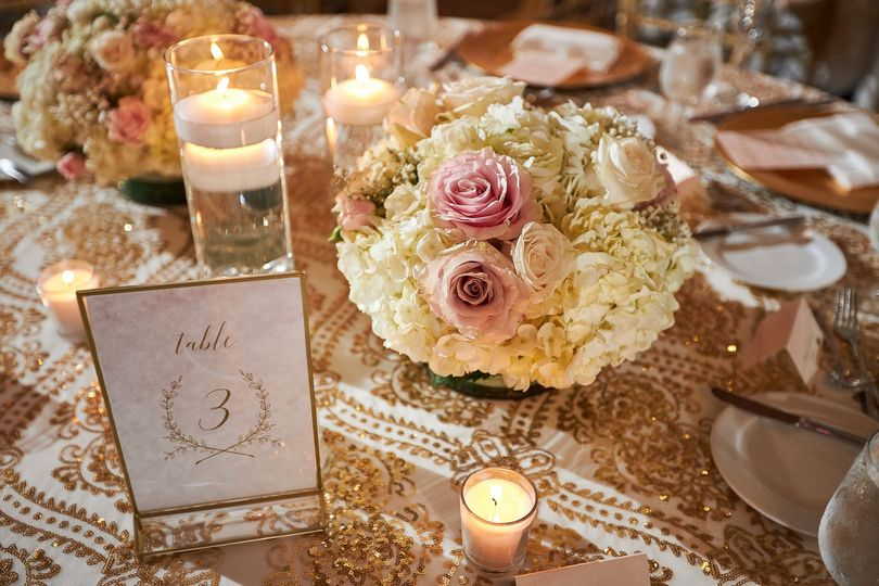 Gold and Blush Florals