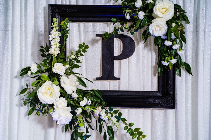 Backdrop Framed letter