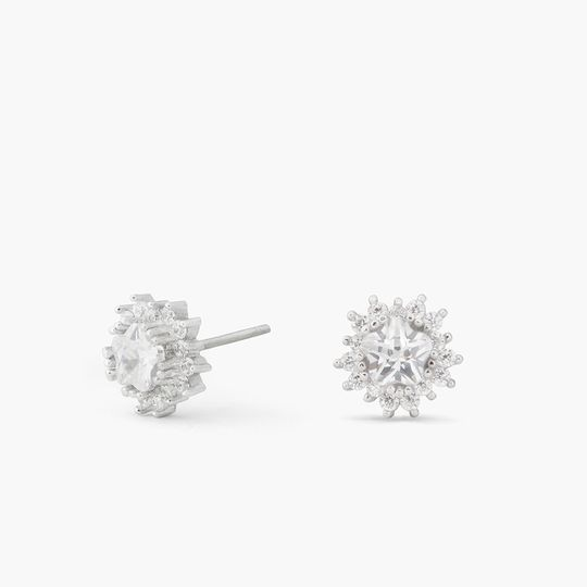 DELILAHK ASTRID CRYSTAL STUDS  These crystal studs are a classic jewelry-box essential. Timeless and...