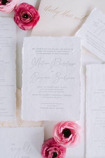 Handmade paper invite