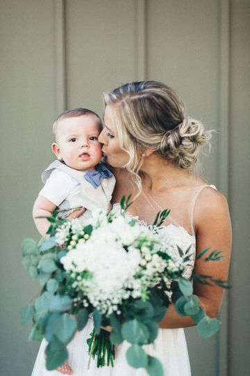 The bride and baby