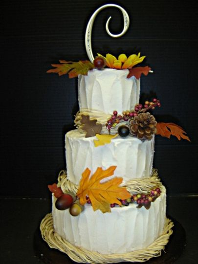 Beautiful fall colors cake!