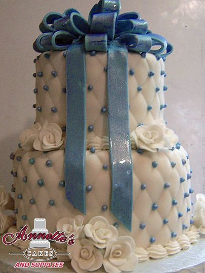 Wonderfully textured and handmade ribbons cake!