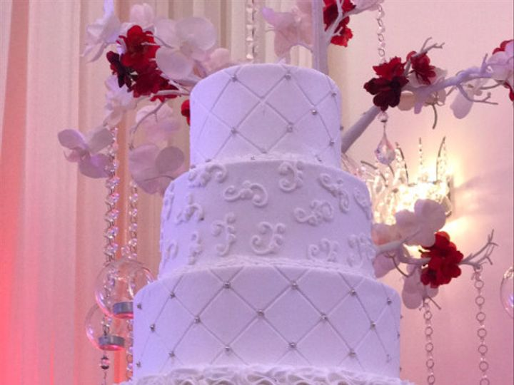 Tmx 1506015870238 White Cake Surrounded By Flowers Orlando wedding cake