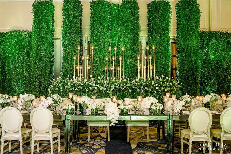 Bride & Groom Sharing Table