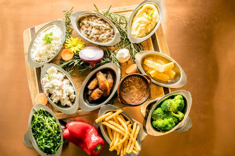A wide selection of side dishes