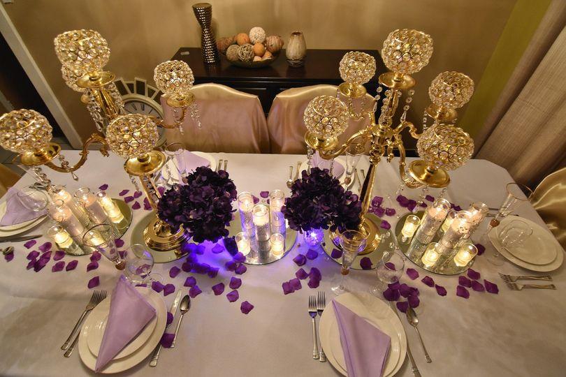Gold candelabras