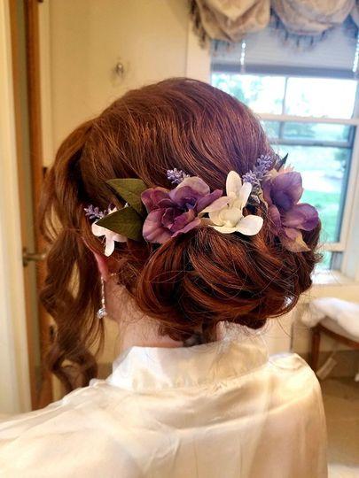 Floral hair designs