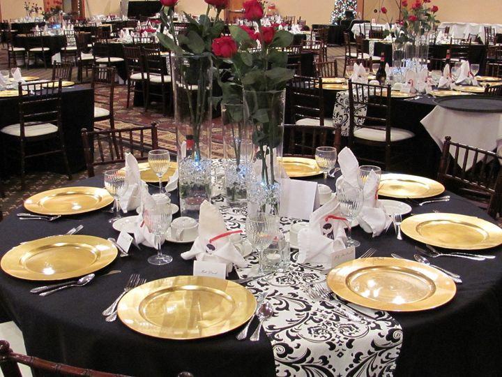 Tmx 1508273059794 Blk  Wht Tablescape Kalispell wedding venue