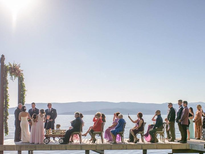 Tmx 1508275744418 Lake Ceremony On Dock Kalispell wedding venue