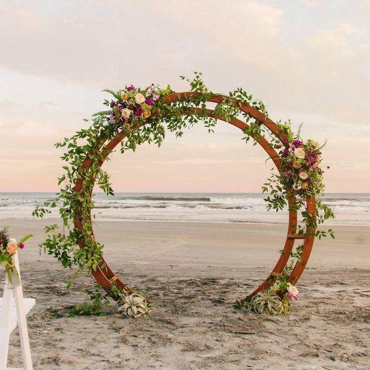 Circular Moon Gate Arch