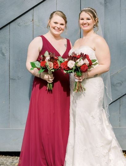 Beautiful Bride & Bridemaid