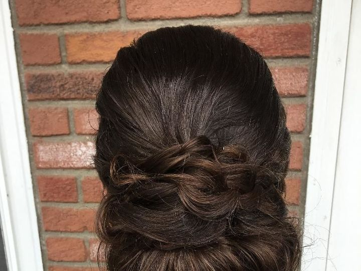 Tmx 1522799155 2ec08558eadb0943 1522799154 8d16e6576e361cc4 1522799154886 1 Updo New Paltz, New York wedding beauty