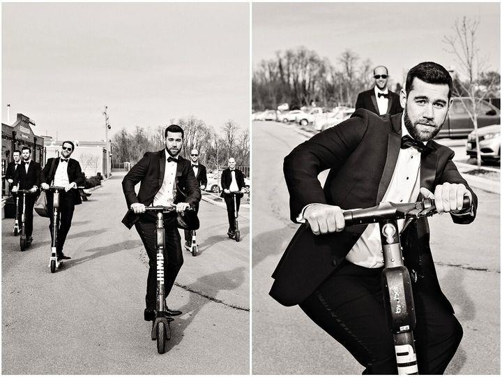 Tmx Urban Row Photo Groom Groomsmen Riding Scooters 0015 51 1025135 157798064866650 Baltimore, MD wedding venue