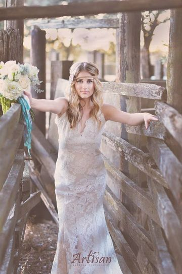 bride in stables