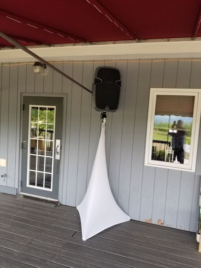 Remote speakers for patios and second or third rooms/floors