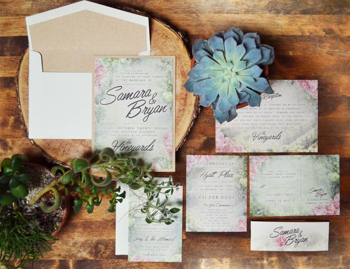 Pretty invitations