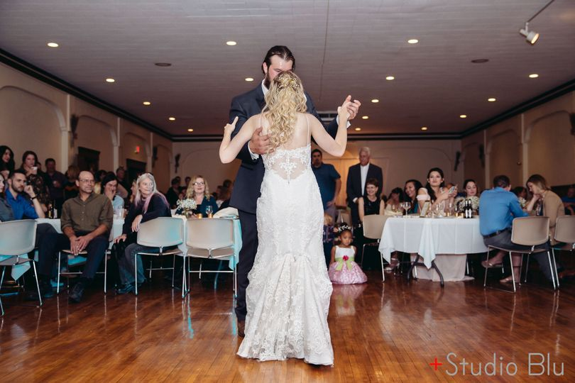 Couple slow dancing