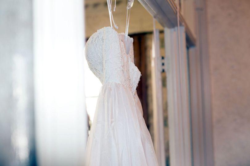 Closeup of the dress