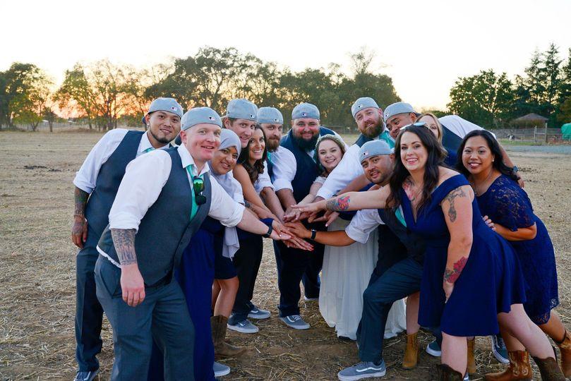 A fun wedding party