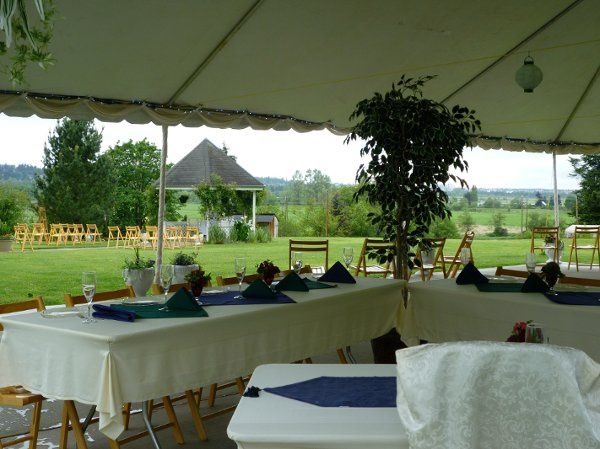 Dining under the tent