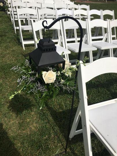 Ceremony setup decoration