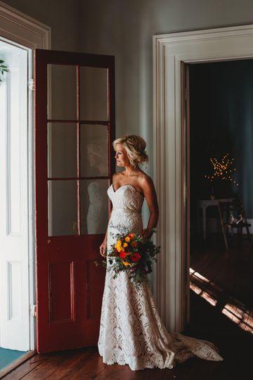 Full-length bridal portrait