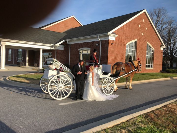 Open top wedding carriage