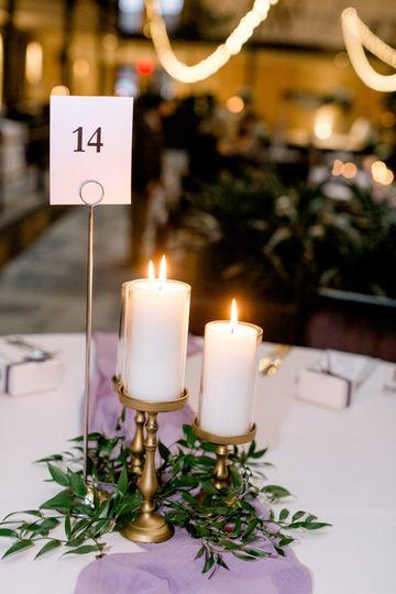 Ceramic candle pillars
