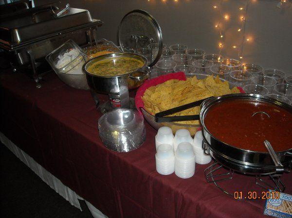Homemade queso and salsa always compliments Fajitas!
