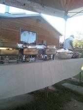 Buffet setup for a catering