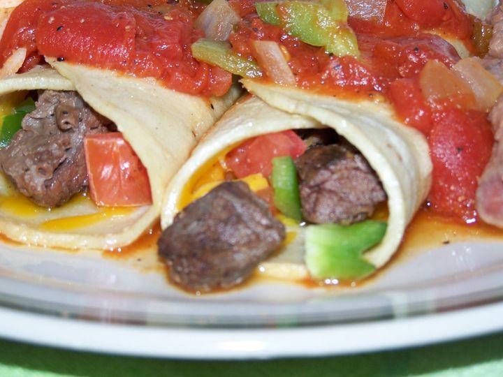 Here we have Steak Enchiladas w/a nice Ranchera Sauce.