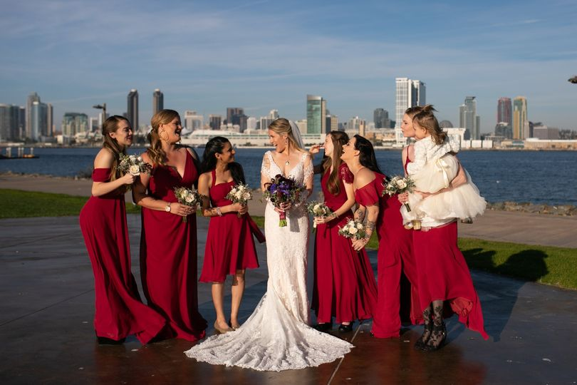 Just a bride & her girls